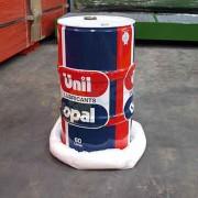 10 Boudins absorbants hydrocarbures - Capacité d'absorption :85 Litres