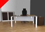 Ensemble bureau occasion - Longueur bureau : 160 cm