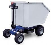 Transporteur de charge électrique à 4 roues Charge 1000 Kg - Chariot transporteur à timon