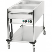 Chariot bain-marie 2 x GN 1/1 verticale
