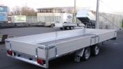 Remorque plateau double essieux