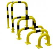 Arceau de protection avec platine - Diamètre : 76 mm - Épaisseur : 3 mm - Poids : De 7 kg à 17 kg