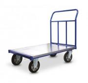 Chariot de manutention acier à plateau galvanisé - Chariot dossier amovible tubulaire, charge : 350/800 kg