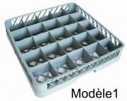 Casier lave-vaisselle à compartiments - Dimensions extérieures (L x l x h) : 500 x 500 x 102 mm