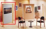 Panneau d'exposition - (H x l)cm :172 x 122- Certifié PEFC Surface:Feutrine bleu marine