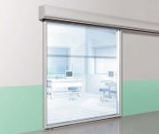 Porte coulissante double vitrage - Porte environnement contrôlé