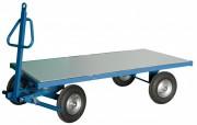 Remorque industrielle avec essieu directeur - Charge utile : 1000 Kg