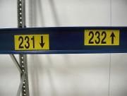 Étiquette signalétique entrepôt