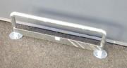 Barrière de protection galvanisée - Dim. hors tout : 1058 x 320 mm - ø tube 40 mm