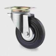 Roulette bandage caoutchouc semi élastique - Roulette pour la manutention 3370PVJ160P63
