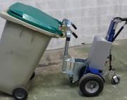 Tracteur pousseur poubelles compact - Tire conteneur capacité 1200 kg