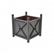 Bac à palmier acier  - Matière : Acier galvanisé - Dimensions : 1000 x 1000 x 900 mm - Poids : 78 kg