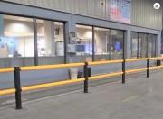Barrière de sécurité en Memaplex - Poteaux diamètre 130 mm - hauteur 1 130 mm