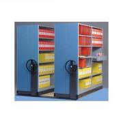 Rayonnage mobile tôlé pour documents d'archive - Protection contre la saleté
