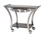 Table de service en inox brossé - Structure inox brossé -