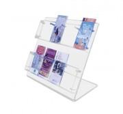 Présentoir comptoir plexiglas 50 x 50 cm - Plexiglas épaisseur 10 et 3 mm - Largeur: 50 cm - Hauteur: 50 cm