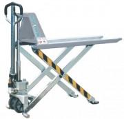 Transpalette inox Ecartement 550 mm - Ecartement extérieur des fourches : 550 mm