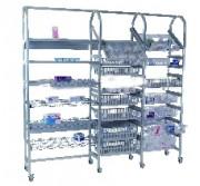 Rayonnage mobile médical - Largeur 400 ou 600 mm