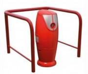 Barrière protection arceaux - Constituée de tube d'acier de diamètre 60 mm