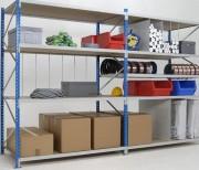 Rayonnage à capacité mi-lourde - Adapté au stockage de produits mi-lourds