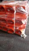 Sabot de protection rayonnage Orange - Hauteur : 600 mm - Épaisseur : 5 mm