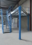 Plateforme mezzanine de stockage - Multipliez par 2 ou 3 vos surfaces - Sur mesure