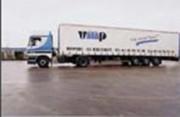 Publicité soudée sur camion