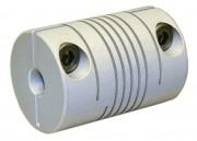 Accouplement flexible à hélicoïdes en aluminium 0,5 à 0,8 Nm
