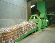 Presse à déchet horizontale à canal - Pression de compactage : 1200 kN
