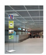 Totem de communication en aluminium - Plusieurs formats disponibles - Horizontal - Vertical