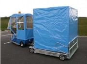 Remorque utilitaire bâchée - Capacité : 2 T - Pour la manutention de conteneurs à déchets