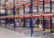 Rack de stockage palettes   - Stockage dynamique palettes LIFO