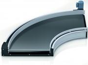 Convoyeurs courbes à bande - Hauteur de ceinture supérieure est de seulement 160 mm
