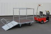 Remorque utilitaire conteneurs - Capacité max.: 2000 Kg - Surbaissée