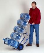 Diable manuel en aluminium pour bonbonnes d'eau - 4 plateaux  - capacité 200 Kg