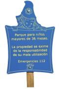 Panneau d'affichage jardin lutin - Hauteur : 1.56 m