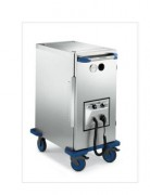 Conteneur chauffant en acier inoxydable - Dimensions L x l x H : 540 x 815 x 977-1495 mm