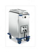 Conteneur alimentaire chauffant en inox - Dimensions L x l x H : 540 x 815 x 1060 mm