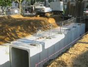 Bassin en béton pour rétention des eaux - Avec joint d'étanchéité breveté incorporé