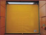 Porte souple à enroulement - Avec issue de secours en forme de T, avec bandes velcro