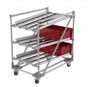 Chariot flow rack - Chariot mobile d'aide aux préparations de commandes
