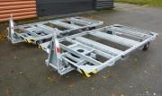 Châssis squelette pour remorque industrielle 1 tonne - Dimensions : 3000 x 1500 mm
