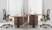 Meuble secrétaire design aluminium - Dimensions plans en cm  : de 80x80x74 à 160x120x74
