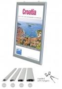 Cadre clic clac d'affichage suspendu - Tailles disponibles/images : 25-32-42mm / A0-A1-A2-A3-A4
