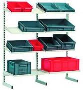 Rack de stockage pour bac - Dimensions (L x P x H) mm : 1500 x 920 x 610