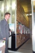 Rayonnage métallique profiltol sur mobile mécanique banque - Rayonnage métallique Profiltol sur mobile mécanique