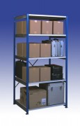 Rayonnage industriel semi lourd - Capacités : 80 à 400Kg par niveau