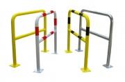 Barrière de sécurité avec platine - Diamètre : 40 mm - Dimensions : 1000 x 1000mm / 1000 x 1500mm / 1000 x 2000mm