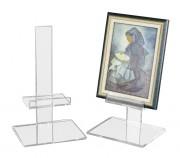 Chevalet à tableaux 30 x 24 cm - Plexiglas épaisseur 10 et 15 mm - base 30/24 cm - Hauteur 50 cm - Réglable en hauteur