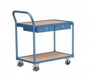Chariot à 2 plateaux avec tiroirs - Capacité de charge (Kg) : 250